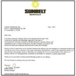 Sunbelt Rentals testimonial for Contich Construction
